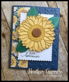 Fun Fold Cards, Folded Cards, Fall Cards, Christmas Cards, Prim Christmas, Homemade Christmas, Sunflower Cards, Stampin Up Catalog, Stamping Up Cards