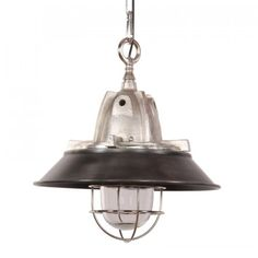 Hanglamp Floris Deluxe zwart met staal