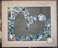 Sea Glass Crafts, Sea Glass Art, Resin Crafts, Resin Art, Sea Glass Colors, Mosaic Glass, Seashell Art, Seashell Crafts, Starfish