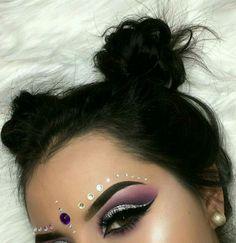 Rave Makeup, Glam Makeup, Pretty Makeup, Makeup Art, Beauty Makeup, Fairy Makeup, Mermaid Makeup, Maquillage Halloween, Halloween Makeup