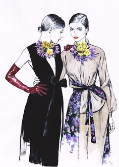 Editorial illustrations. Dries Van Noten. on Behance
