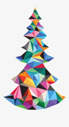 Thoroughly Modern Christmas Tree. You could actually take the leidos designs you have already done but them in a tree shape and then have this 3-d printed.....