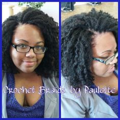 Crochet Weave done with marley hair by Paulette http://braidsbypaulette.com