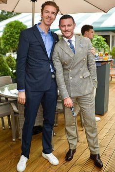 """cultivated-arrogance-blog: """" On Sunday 7/10, James Cook + Luke Evans hit up the Polo Ralph Lauren Lounge VIP Suite @ All England Lawn Tennis & Croquet Club at SW19 in Wimbledon. """""""
