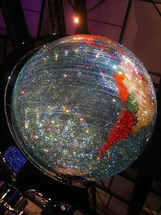 globe made of Swarovski crystals by lesley