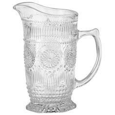 Dieser Krug von NOVEL ist unverzichtbar für gemütliche Sommerabende! Dank der aufwendigen Verzierung des Klarglases servieren Sie erfrischende Säfte auf eine stilvolle Art. Mithilfe des Fassungsvermögens von ca. 0,99 Litern füllt die Karaffe die leeren Gläser Ihrer Gäste mit leckeren Erfrischungsgetränken. Einfach praktisch!