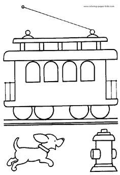Train Engine Coloring Page Clipart Panda Free Clipart 43915