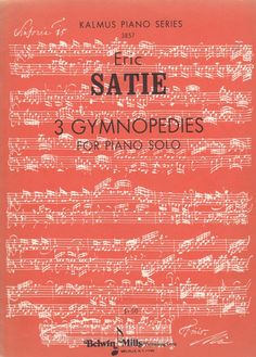 Eric Satie 3 Gymnopedies For Piano Solo Sheet Music