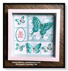 How to use picture frames in interior Design? Box Frame Art, Shadow Box Frames, Box Art, Homemade Watercolors, Scrapbook Frames, Stamping Up Cards, Frame Crafts, Butterfly Cards, Home And Deco