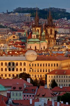"500px / Photo ""Golden Prague"" by Tomas Megis"