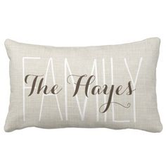 Household Identify Rustic Stylish Monogram Pillow. >> See more at the image link