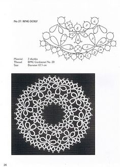 Tatting desings - Lada - Picasa Web Album ****Center ring would make a nice necklace****
