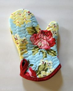 Oven Mitt tutorial with free template