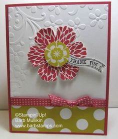 Another fun way to use the blossom. Stampin' Up! Betsy's Blossoms