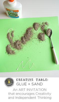 sand and glue