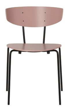 Herman Stacking chair - Wood & metal Pink by Ferm Living - Design furniture and decoration with Made in Design