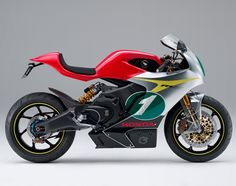The Honda RCE Electric Superbike from Honda.  http://www.southernhonda.com/showcaseproductslist.htm?Brand=16=1787