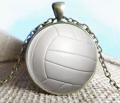 Volleyball Pendant/Necklace Jewelry Fine Art by NeedfulObjects