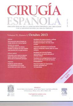 Cirugía Española. Disponible en la Hemeroteca (Biblioteca Central - Nivel 4A)