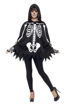 Adult's Poncho Skeleton Costume