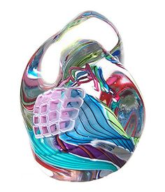 "Sea Symphony Weight Art-Glass - Multicolored, 3.5""H x 2.27""W by Peter Ridabock♥•♥•♥"