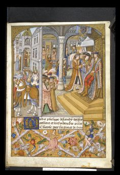 Yates Thompson 32 f. 14 Charles the Bold and his court. Just you look at that overcoat.