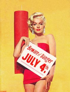 vintage 4th of july pin ups, marilyn monroe - Google Search
