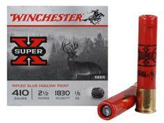 """Winchester Super-X Ammunition 410 Bore 2-1/2"""" 1/5 oz Foster-Type Slug Box of 15"""