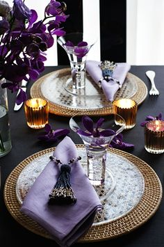 dinner time...table setting