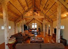 images about House barn combo on Pinterest   Barn homes    house barn combo plans   There    s an open floor plan in the living area