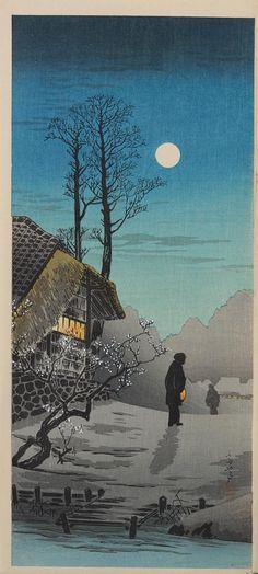 Japanese woodblock prints, one Oban size, Shoda Koho (1871-1946) Three Japanese woodblock