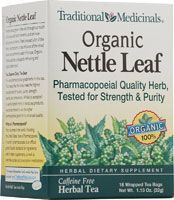Traditional Medicinals Organic Nettle Leaf Herbal Tea-This is great for allergies.