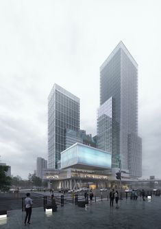 Jayang 1-dong Redevelopment Project – NORTHPOINT Architecture Visualization, Futuristic Architecture, Facade Architecture, Amazing Architecture, Landscape Architecture, Mix Use Building, High Rise Building, Building Design, Commercial Complex