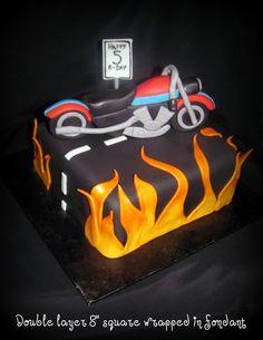 motorcycle cake for koen