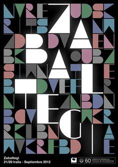 Typographic Poster Design by Roseta y Oihana for Festival de San Sebastián