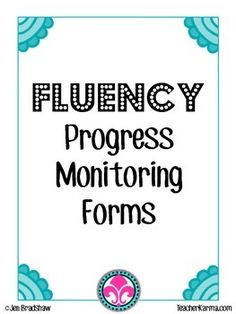 Fluency progress sheetsFREE! The FLUENCY PROGRESS MONITORING forms will assist you with monitoring your students' fluency progress. Fluency affects all areas of reading, even COMPREHENSION! <strong>These fluency forms are perfect for RTI or students that are struggling with reading fluency.</strong>