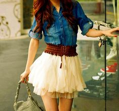 Love! So cute....add some boots for a chic cowgirl look.