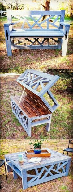 Bench into table #WoodworkingBench #diyfurniturerepurpose