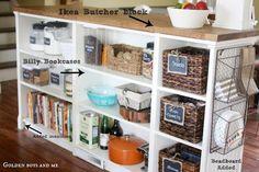 Billy Bookshelves Kitchen Island