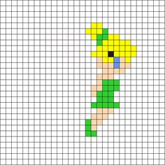 Tinker Bell - Peter Pan Perler Bead Pattern
