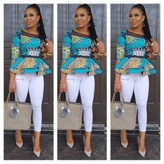 Which of this Ankara outfit do you prefer A. promised I was gonna show you how to Rock This peplum skirt and blouse oya make your choice 😁😁 for serious clients plz cc 😙😙 African Fashion Ankara, Latest African Fashion Dresses, African Dresses For Women, African Print Dresses, African Print Fashion, Africa Fashion, African Attire, High Street Fashion, African Blouses