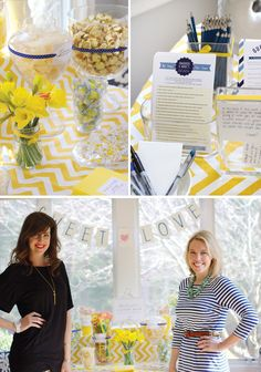 yellow-chevron-bridal-shower @Danielle at Framed Frosting this is sooo you!