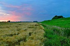 Spectaculaire zonsondergang boven Batenburg #3