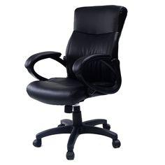 Costway 2016 Style PU Leather Ergonomic Computer Desk Task Office Chair Black