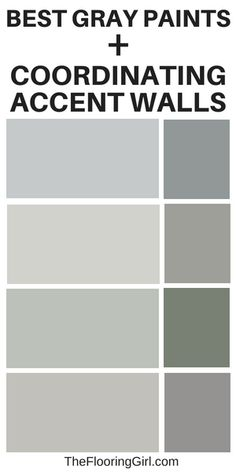 are the most popular shades of gray paint? Best gray paints and coordinating accent wall. Best shades of gray. Best gray paints and coordinating accent wall. Best shades of gray. Grey Interior Paint, Interior Paint Colors For Living Room, Paint Colors For Home, Kelly Moore Paint Colors Interiors, Indoor Paint Colors, Color Interior, Interior Design, Shades Of Grey Paint, Grey Paint Colors