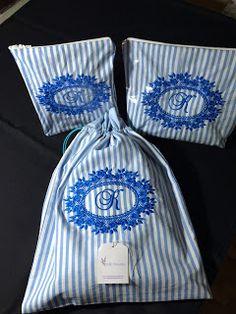 Roth Bordados e Presentes: Kit Porta Lingerie com duas necessaires plastific...
