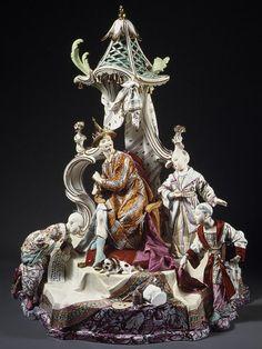 The Audience of the Chinese Emperor [German, Heilbrunn. Chinese Emperor, Oriental, Old Paris, Fine Porcelain, Porcelain Doll, Asian Decor, Antique China, Metropolitan Museum, Asian Art
