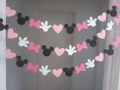 Minnie Girlande - DIY - Silhouetten aus Bastelpapier