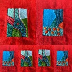 Abstract Images, Textile Design, Fiber Art, Needlework, Felt, Wool Embroidery, Textiles, Quilts, Blanket