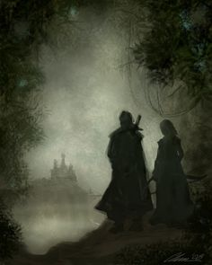 His dark palace / silhouette / eau / brume / contemplation / noir Story Inspiration, Character Inspiration, Writing Inspiration, Fantasy World, Fantasy Art, Rangers Apprentice, Medieval, Faeries, In This World